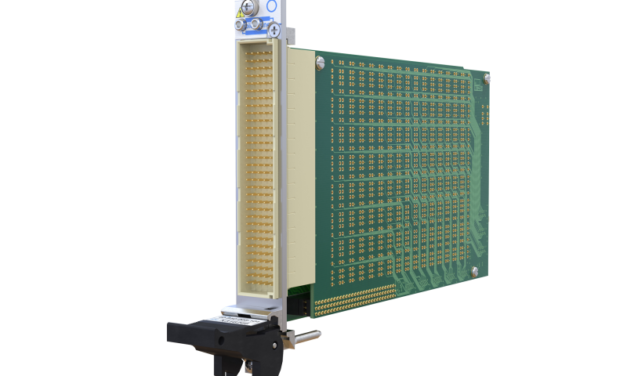 Integrated monitored PXI multiplexer module from Pickering Interfaces indicates status of any active channel