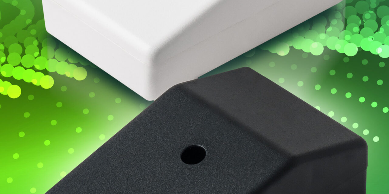 Highly adaptable Miniature Sloping Module Cases from BCL Enclosures protect delicate electrical devices on desks, dashboards and in pockets