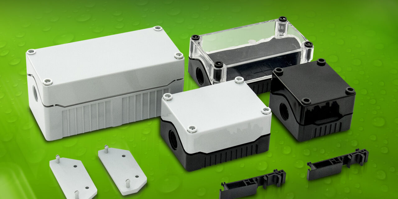 Keeping the elements out and protecting components – sealed B0 IP67 Series enclosures from BCL hold PCBs vertically or horizontally