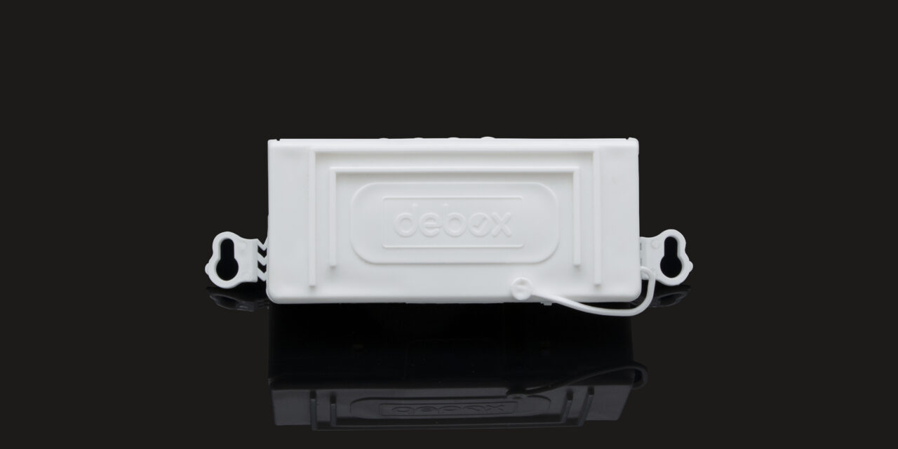 New Debox SM40 fits inside 40mm ceiling apertures – the smallest in-line junction box on the market