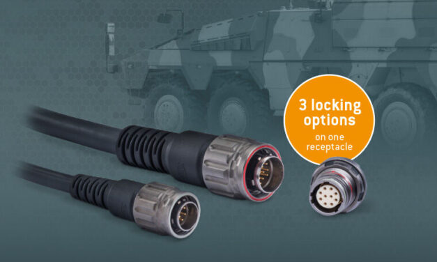 A new addition to the Advanced Military Connector range, the AMC® Series T offers three locking variants in one connector