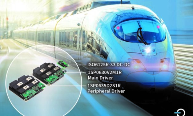 Power Integrations' Compact, Robust SCALE-2 Plug-and-Play Gate Driver Targets Railway Applications